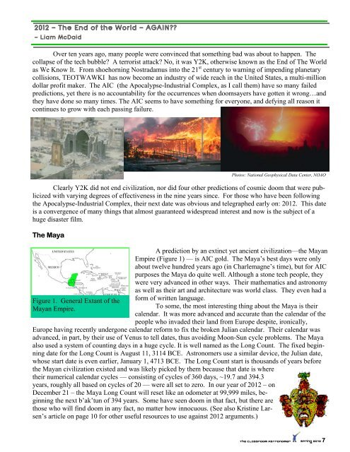2012 — The End of the World — AGAIN?? - Classroom Astronomer ...