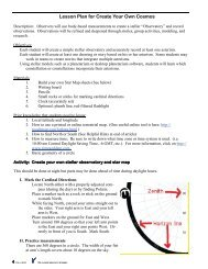 Lesson Plan and Sky Map Maker Chart - Classroom Astronomer ...