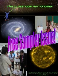 Sample Issue - Classroom Astronomer Magazine