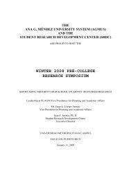WINTER 2008 PRE-COLLEGE RESEARCH SYMPOSIUM - Student ...
