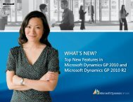 What's new in Microsoft Dynamics GP 2010 - Download Center