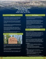 Community Services - Arizona Parks and Recreation Association