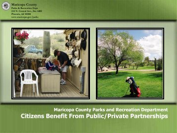 Citizens Benefit From Public/Private Partnerships - Arizona Parks ...