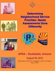 Needs Assessments Done Differently - Arizona Parks and ...