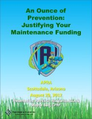 An Ounce of Prevention - Arizona Parks and Recreation Association