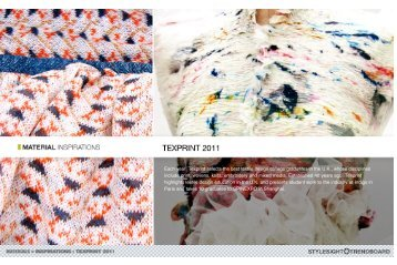 Each year, Texprint selects the best textile design college graduates ...