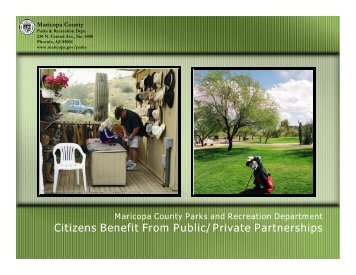Public/Private Partnerships - Arizona Parks and Recreation ...