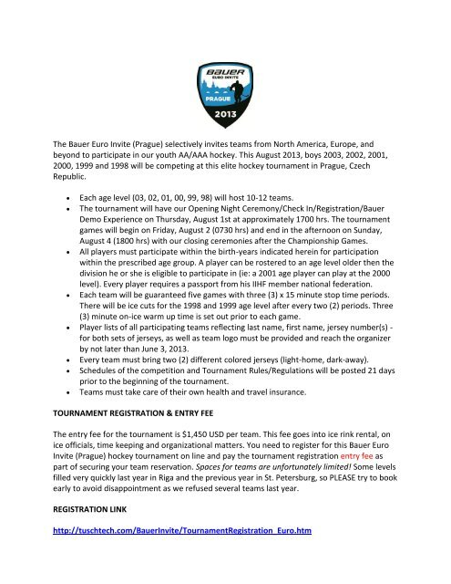Official Invitation Letter - World Hockey Invite