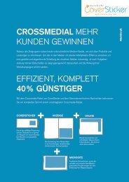 Crossmedial mehr Kunden Gewinnen effiZient ... - CoverSticker