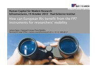 mobility - european association of national research facilities
