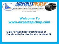 Car Hire Service in Miami FL
