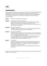 Jahresbericht 1982/83 Die diesjährige Jahreshauptversammlung ...