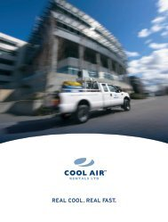 Corporate Brochure - Cool Air Rentals