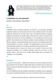 L'esthétique du code génératif - Editions HYX