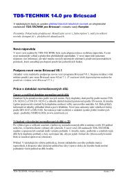 TDS-TECHNIK pro Bricscad