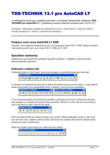 TDS-TECHNIK pro AutoCAD LT