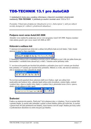 TDS-TECHNIK pro AutoCAD