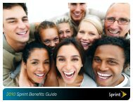 2010 Sprint Benefits Guide