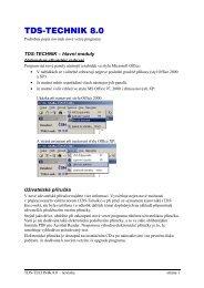 TDS-TECHNIK 8.0 - novinky