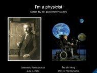 I'm a physicist - CERN