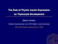 Thymic insulin expression and thymocyte development