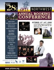 2008 Conf prog FINAL.pdf - Arts Northwest!