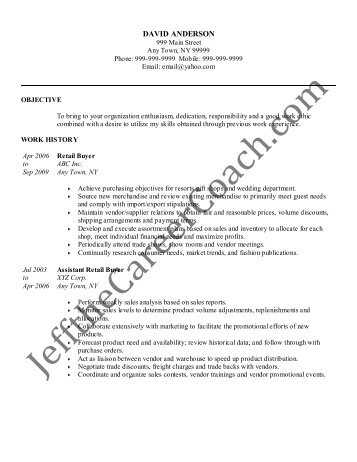 Download The Retail Buyer Resume Sample One In PDF.  Buyer Resume