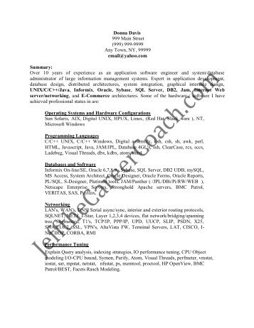 dba resume database cover letter example free sample resume cover