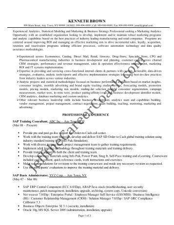 myperfectresume pdf resume roger r piffer - Sample Sap Resume