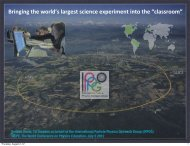 slides in .pdf format - International Particle Physics Outreach Group