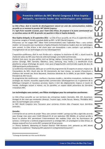 Première édition du NFC World Congress à Nice ... - Team Côte d'Azur