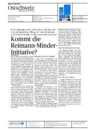 Kommt die Reimann-Minder-Initiative!?