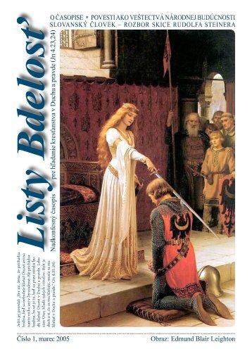 Číslo 1, marec 2005. (vcelku, pdf, 2 MB) - Listy Bdelosť