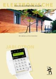 Elektronische Sicherungs- und Alarmsysteme - Katalog - Jablotron