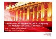 Faktoren der Akzeptanz für Cloud Computing - CLOUDkongress