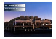 No Cloud is an Island - CLOUDkongress
