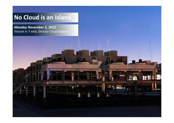 No Cloud is an Island - CLOUDkongress