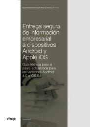 Entrega segura de información empresarial a dispositivos Android y ...