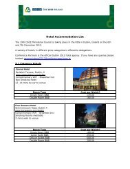 Hotel Accommodation List - Conference Partners