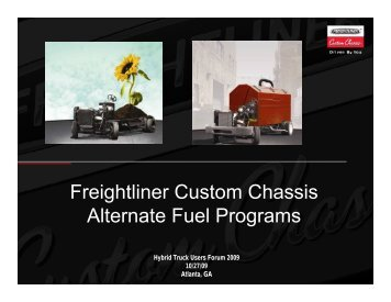 Freightliner Custom Chassis Alternate Fuel Programs - EMI Global