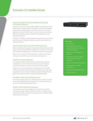Evolution X3 Satellite Router