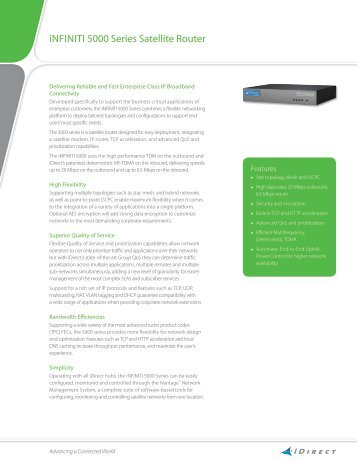 iNFINItI 5000 Series Satellite Router