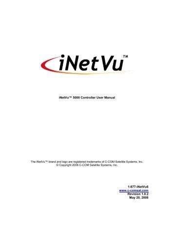 iNetVu™ 5000 Controller User Manual 1-877-iNetVu6 www.c ...