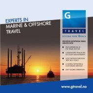 At G Travel we are raising standards and 'SETTING NEW GOALS'