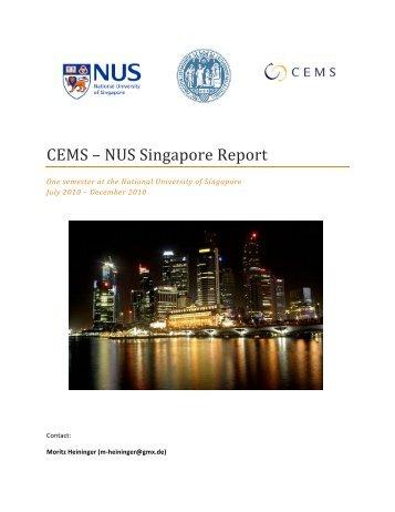Singapore_CEMS Report - Verwaltung