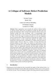 A Critique of Software Defect Prediction Models