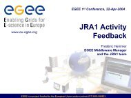 JRA1 Activity Feedback - Frédéric Hemmer - CERN