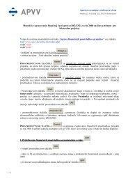 Manuál k používaniu on-line systému pre správu finančných ... - APVV