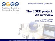 The EGEE project - Frédéric Hemmer - CERN