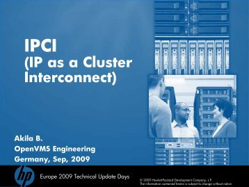 OpenVMS cluster over IP